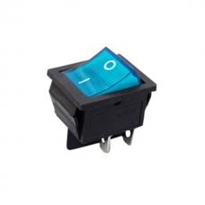 Chave Gangorra Quadrada 4 Pinos iluminada Azul KCD4 110/220v