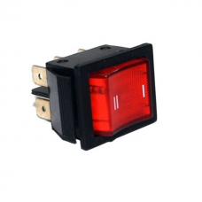 Chave Gangorra KCD Quadrada 6 Pinos iluminada 110/220v