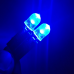 Plaquinha Chip Pingão Led Azul de 10mm 1 Par